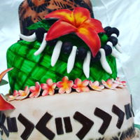 Pacific Island Themed Cake masi keke
