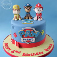 Paw Patrol Cake With hand modelled figures.