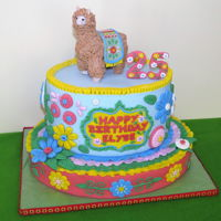 Peruvian Alpaca Cake Peru We raised our daughter on a farm with alpacas. For her 25th birthday she wanted an alpaca cake! I did it in the style of Peruvian folk art...
