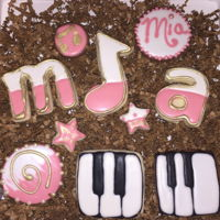 Piano Recital Cookies For Mia Great job Mia.