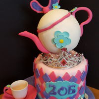 Princess Teapot Party This is a 7 inch cake vanilla with strawberries compose and fresh strawsberries. Styrofoam covered in fondant.