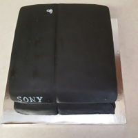 Ps4 Cake Chocolate Guinness cake with vanilla buttercream and fondant