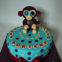 Purple Monkey A Purple monkey cake for Clara, Adrien and Alice.