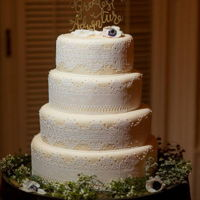 Rustic Lace Wedding Cake Sugar Lace Wedding Cake