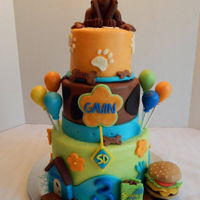 Scooby Doo Gavin's Scooby Doo cake! This is the 3rd cake we've made for this cutie!! Can't wait for next year! This is a 3 tier, 8 inch...