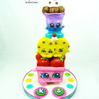 Shopkins!! Had so much fun making this and wish I were little so it could be my cake! TFL! :0)