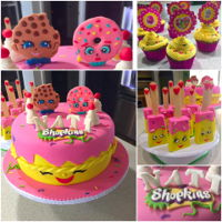 Shopkins Birthday Cake Shopkins Birthday Cake, Cupcakes and Rice Krispie Treats