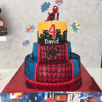 Spiderman 3 LEVELS12¨ 3 LAYERS AND FLAVORSBANANA NUTSTRAWBERRYBUTTERUM8¨2 LAYERS CHOCOLATE NUTELLA CAKE6¨3 LAYERS VANILLA...