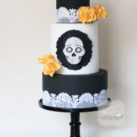 Sugar Skulls Bakers 2016 Cake Collaboration This is my piece for the sugar skull bakers Collaboration. I've been following this collab since the first one and it was an...