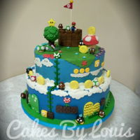Super Mario Cake Super Mario Cake for a verry happy boy