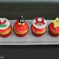 Super Mario Themed Cupcakes Super Mario themed cupcakes