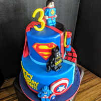 Superheroes Cake Batman, Superman, Spider-Man, and Caption America...
