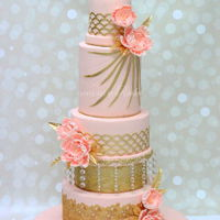 Tall Five Tier Wedding Cake Tall Five Tier Wedding Cake
