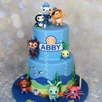 The Octonauts Themed Cake Cake for a girl Abby with her favorite cartoon characters. All the figurines were made by my sweet talented 16th yo daughter. Julia's...