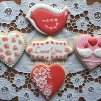 Valentine's Day Cookies Royal iced cookies for Valentine's Day!