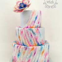 Water Colours Wedding Hand Painted Water Colours Wedding Cake