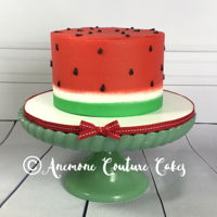 Watermelon Smash Cake Buttercream smash cake