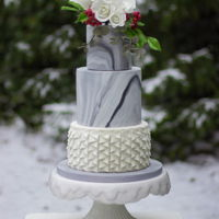 Winter Wedding Cake I've made this wedding cake last saturday in their winter themed style. By coincidence it had just started snowing: perfect time...