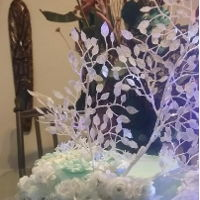 Winter Wonderland 1Tier Wedding cake