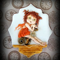 Wishing You A Fairy Time! A Royal icing decorated cookie. All piped with coloured royal icing (inspired by a clay figure)