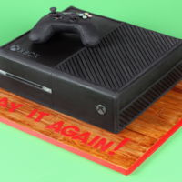 Xbox One Cake Xbox one cake and edible controller.