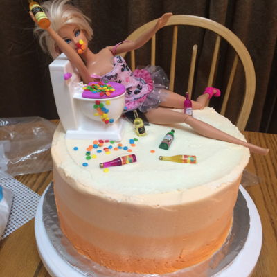 Adult Barbie Cake