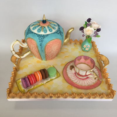 Afternoon Tea Tray For my sister, who collects odd China teacups and loves her tea