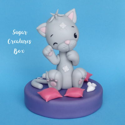 Kitten Topper Tutorial on Cake Central