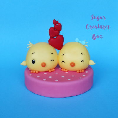Love Birds Topper Tutorial on Cake Central