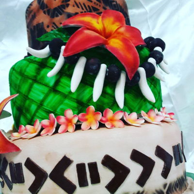Pacific Island Themed Cake