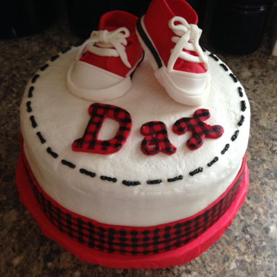 Red And Black Plaid Baby Cake