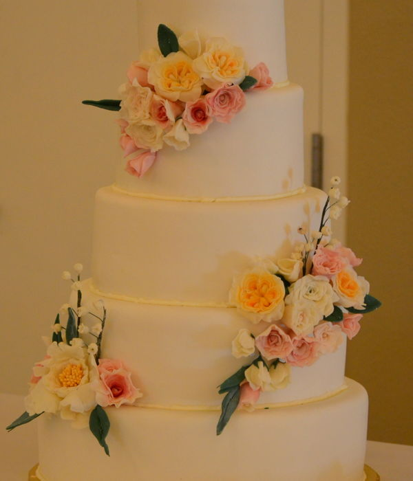 First Wedding Sugar Flowers-Cake Mot Mine