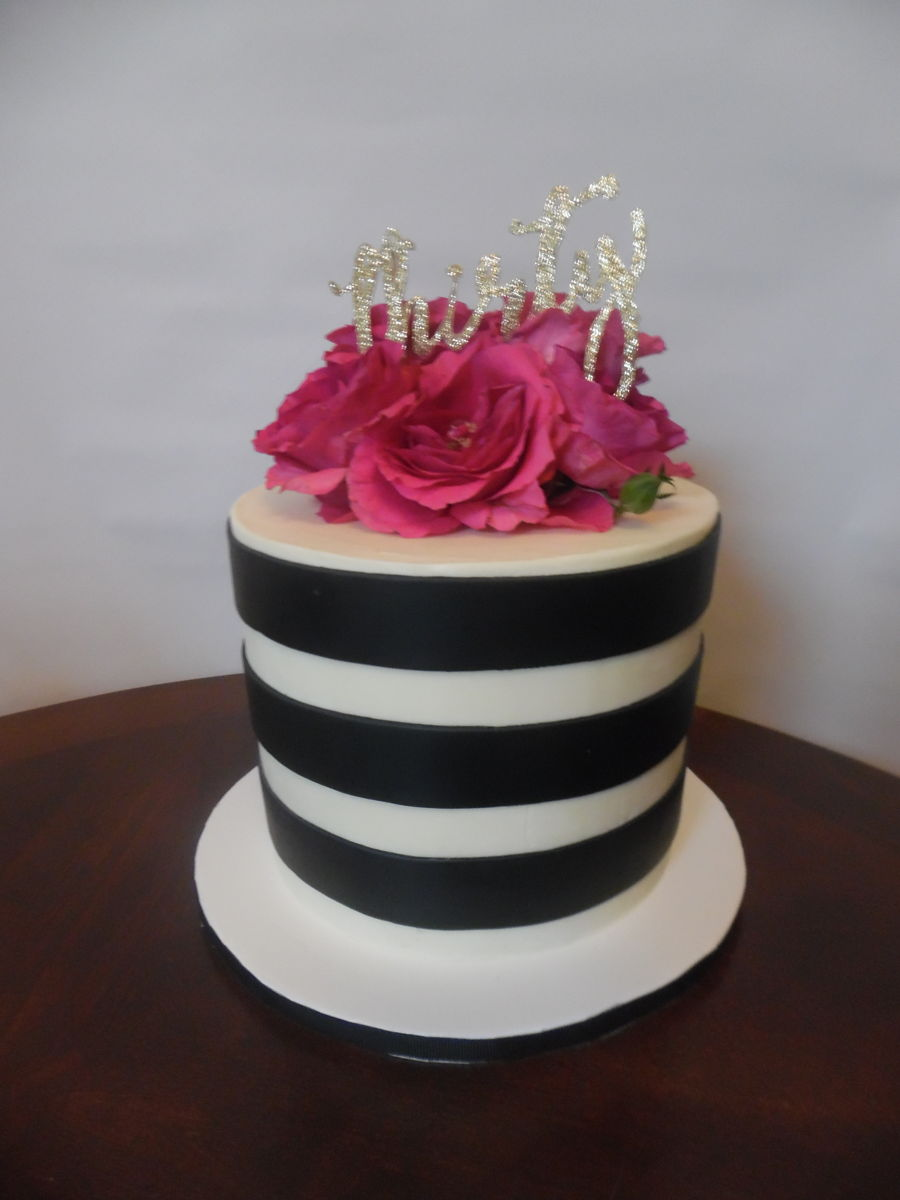 30Th Classic Stripes on Cake Central