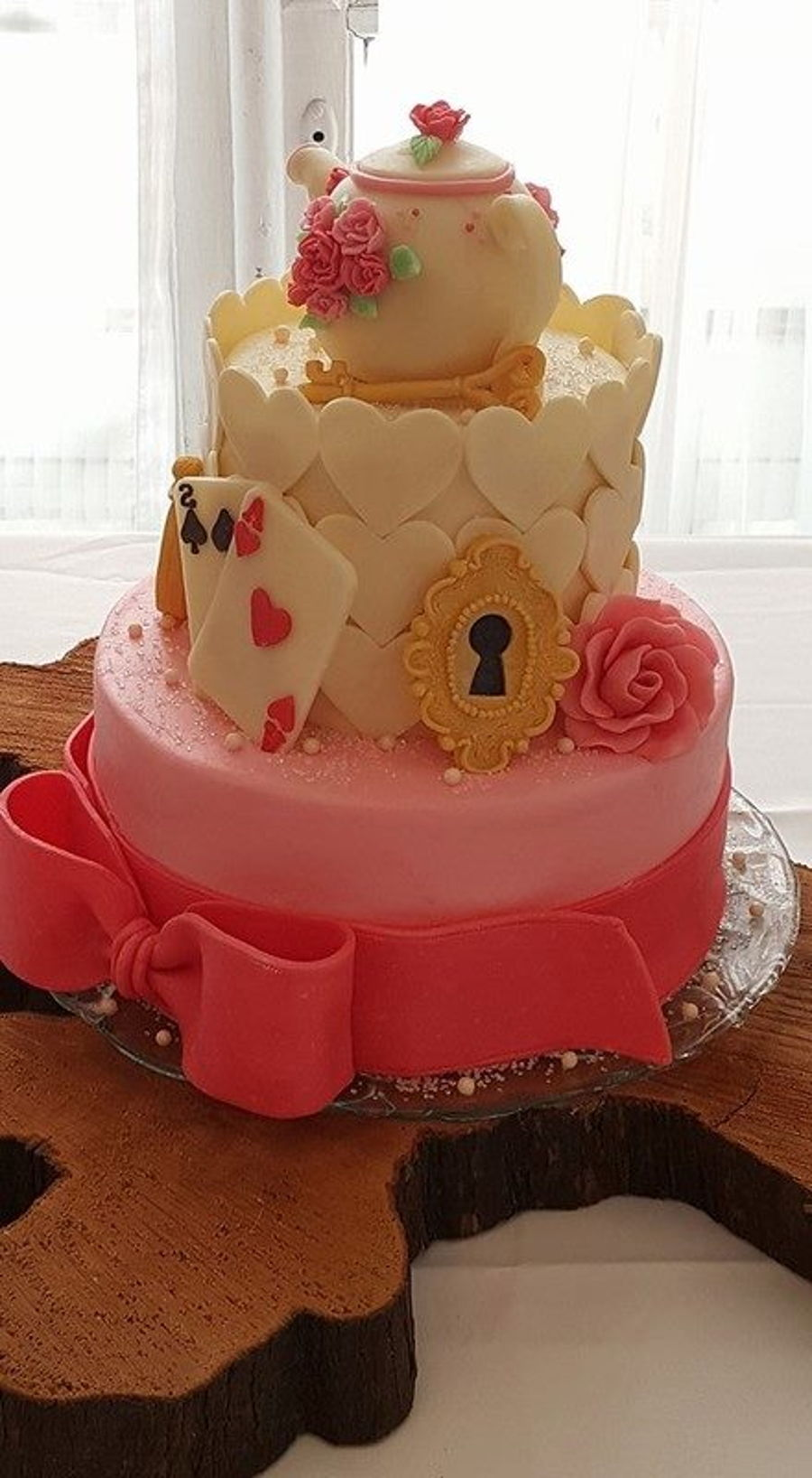 Alice In Wonderland Baby Shower Cake Cakecentral Com