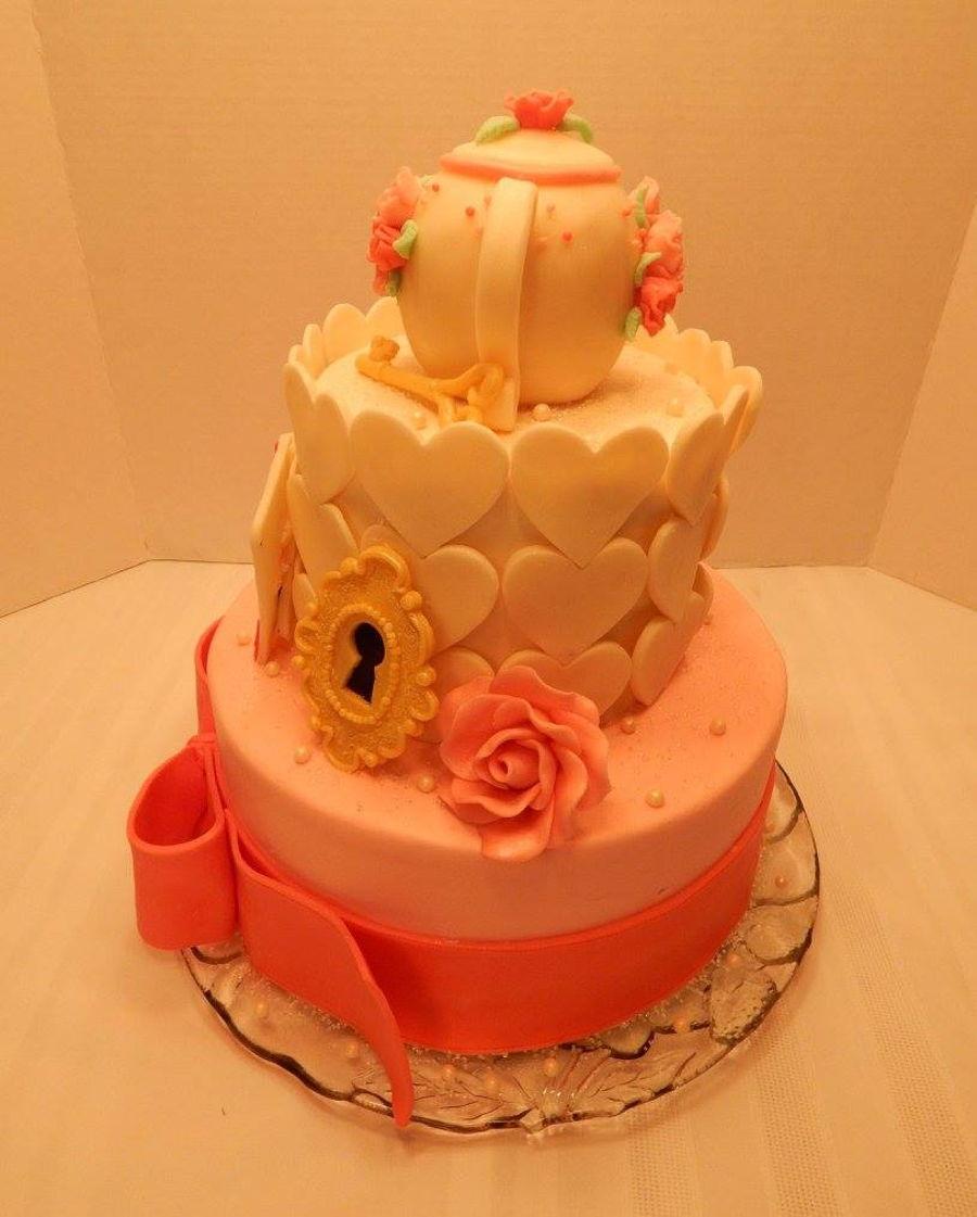 alice in wonderland baby shower cake