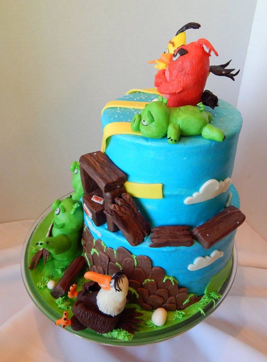 Angry birds cake for Angry birds cake decoration