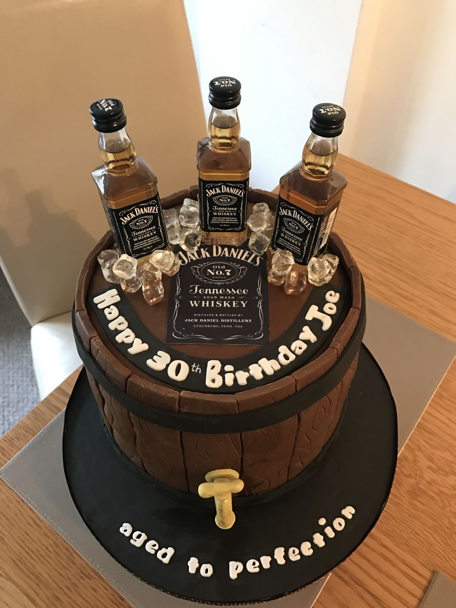 Whiskey Theme Cake