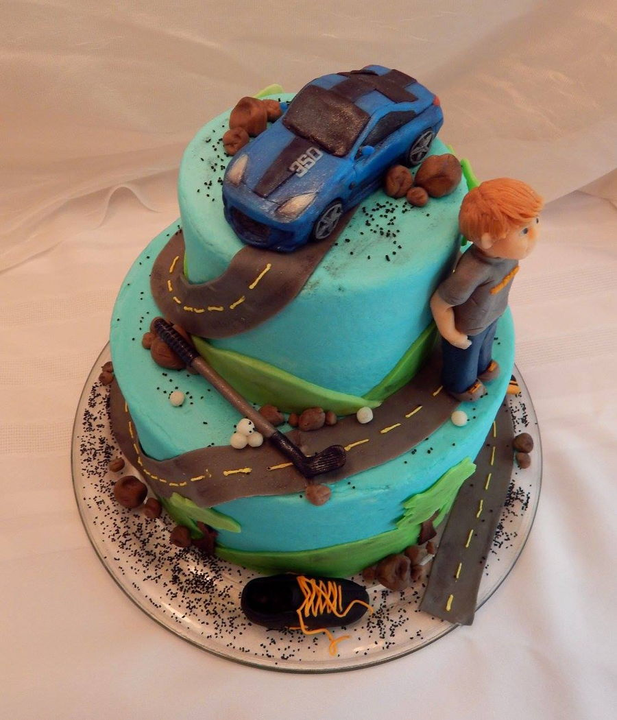 Boy S Sweet 16 Cake Cakecentral Com