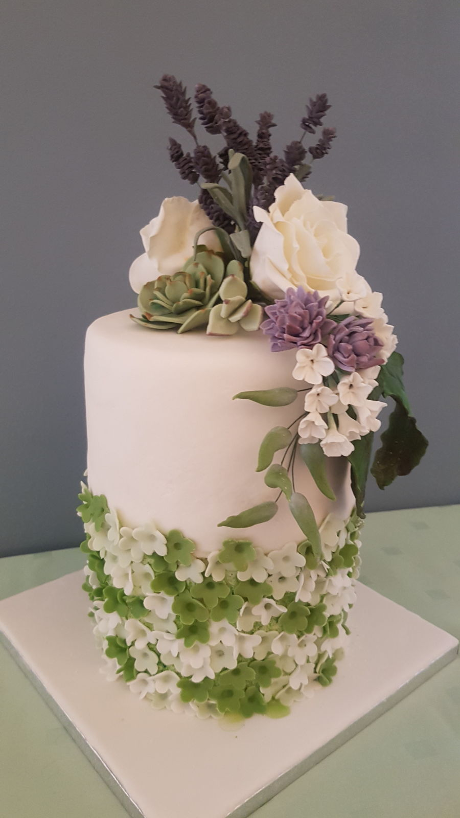 Cake With Flowers on Cake Central