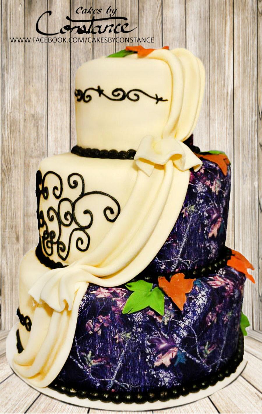 Camo Wedding Cake - CakeCentral.com
