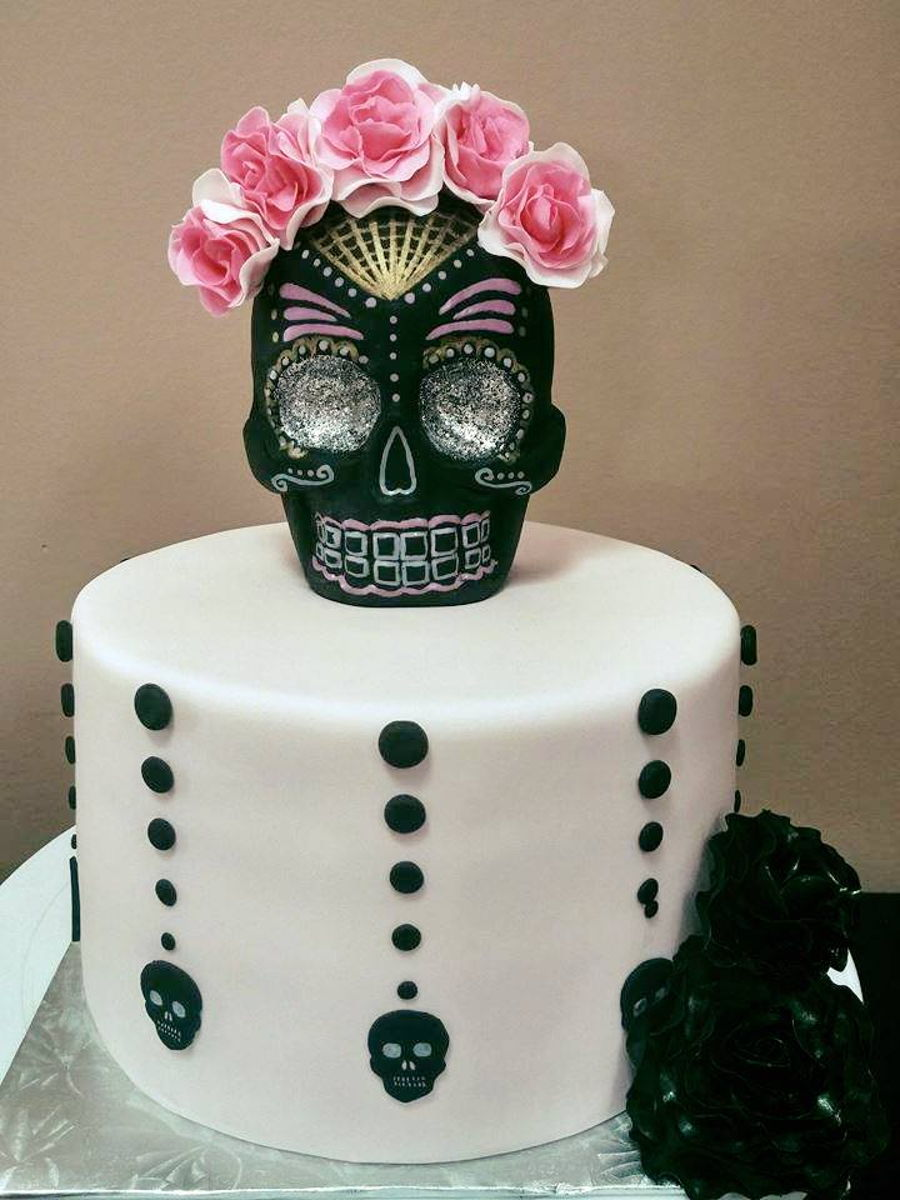 Day Of The Dead Sugar Skull Cake Cakecentral