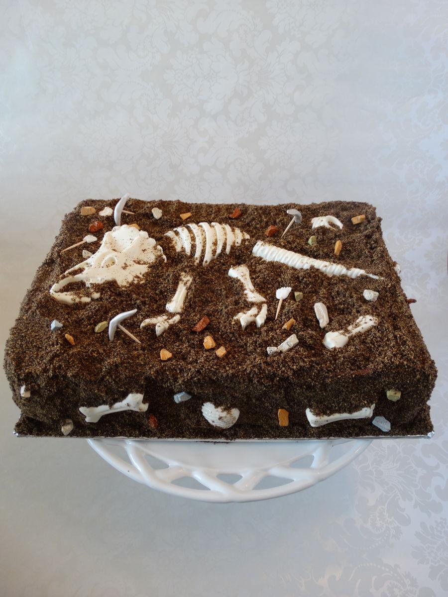 Dinosaur Skeleton Cake Cakecentral Com