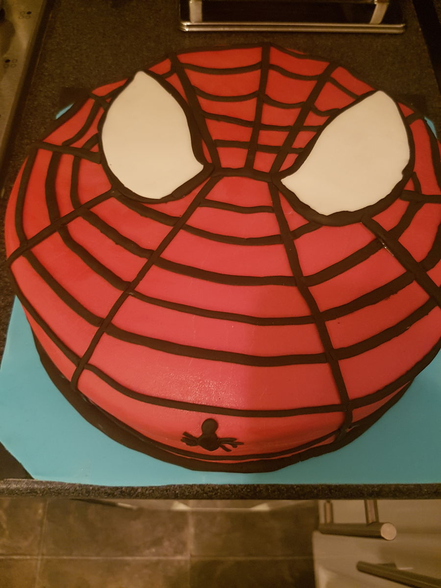 Easy Spiderman Cake Cakecentral Com