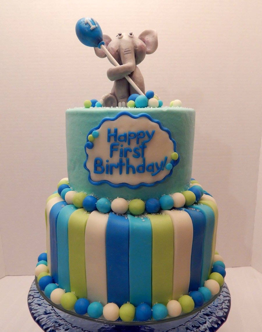 Elephant First Birthday Cake Cakecentral