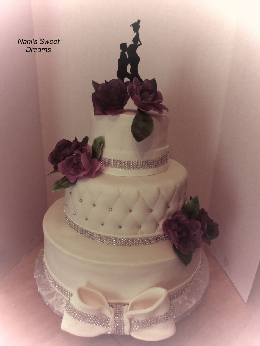 Expecting Wedding Cake on Cake Central