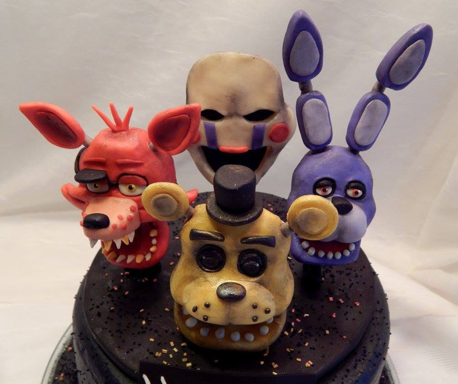 Five Nights At Freddy S Cake With All Characters On It