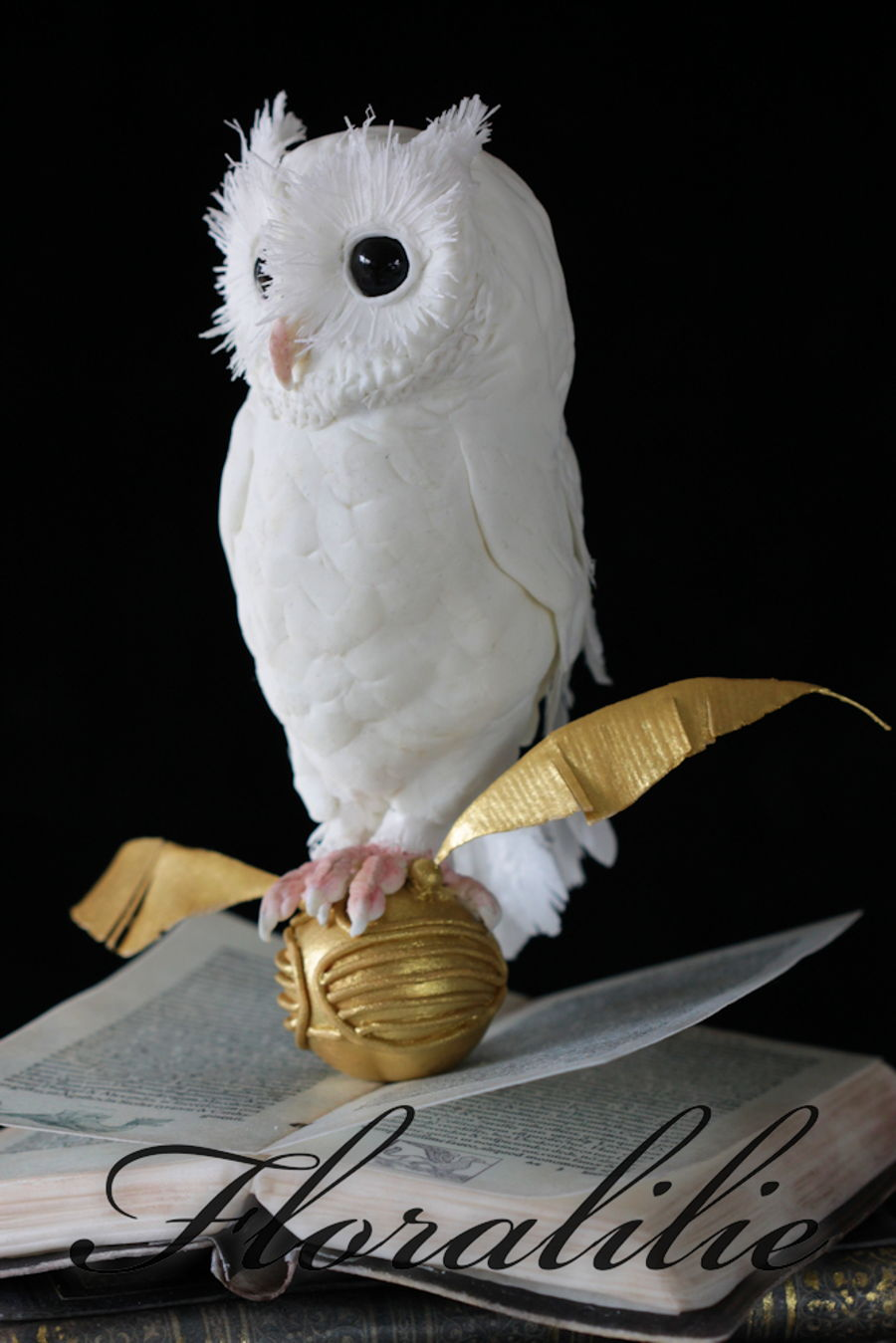 Harry Potter Cake With White Owl Cakecentral Com