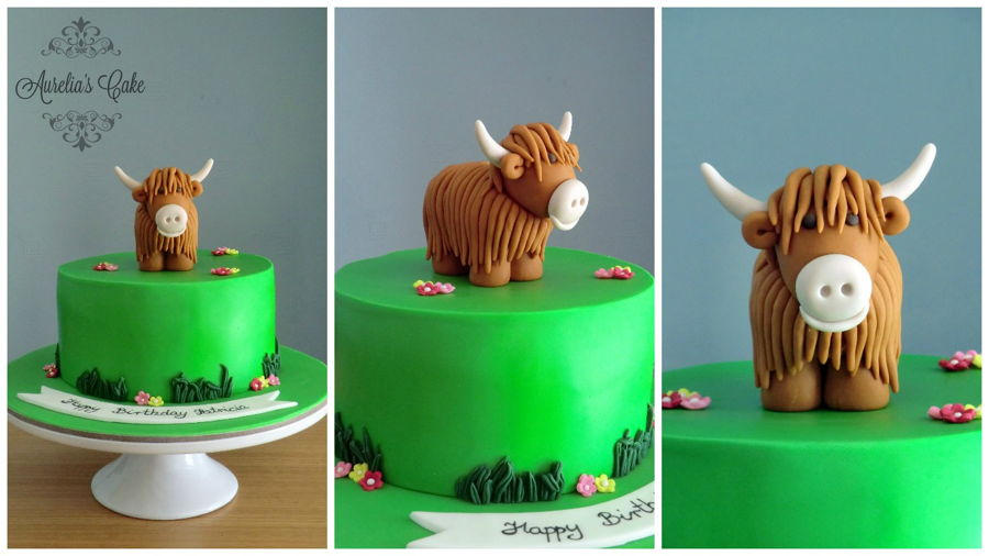 Highland Cow Cake Topper