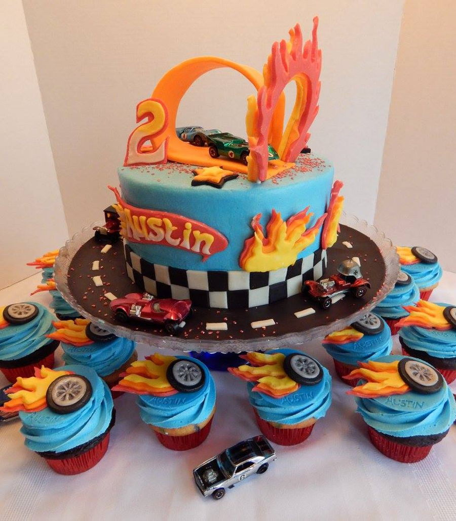 Hot Wheels Cake Decorations
