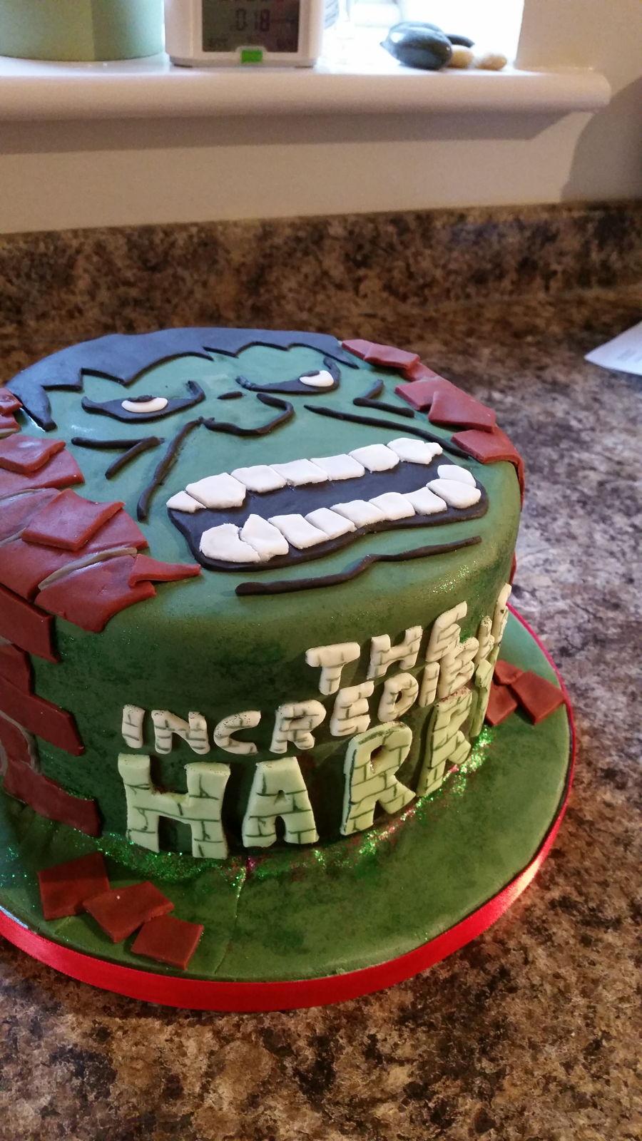 Incredible Hulk Cake Cakecentral Com